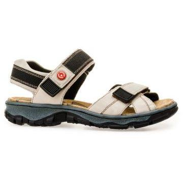 Rieker Womens Crema Beige Sandals 68851-60 | Vilbury London