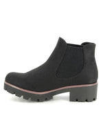 Rieker Womens Microscamo Black Ankle Boots 99284-00 | Vilbury London