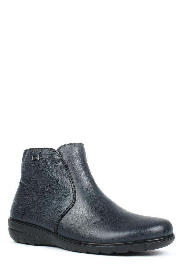 Rieker Womens Jena Blue Ankle Boots X0660-14 | Vilbury London