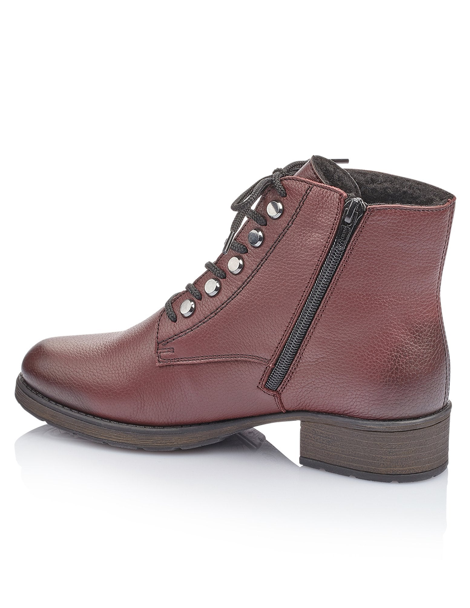 Rieker Womens Mason Red Boots Z9530-35 | Vilbury London