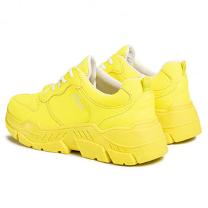 Neon Yellow Flat Shoes