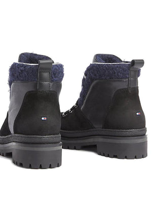 Tommy Hilfiger Womens Cosy Outdoor Booties FW0FW04349-990 | Vilbury London