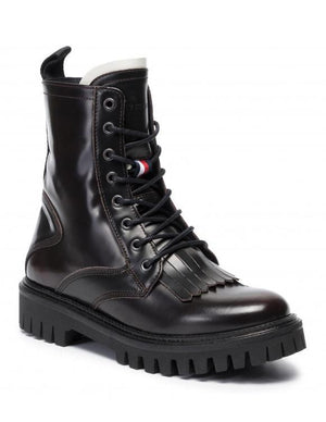 Tommy Hilfiger Womens Iconic Polished Boots FW0FW04494-GBY | Vilbury London