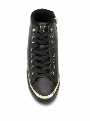 Tommy Hilfiger Womens Midcut Cosy Leather Sneakers FW0FW04536-BDS | Vilbury London