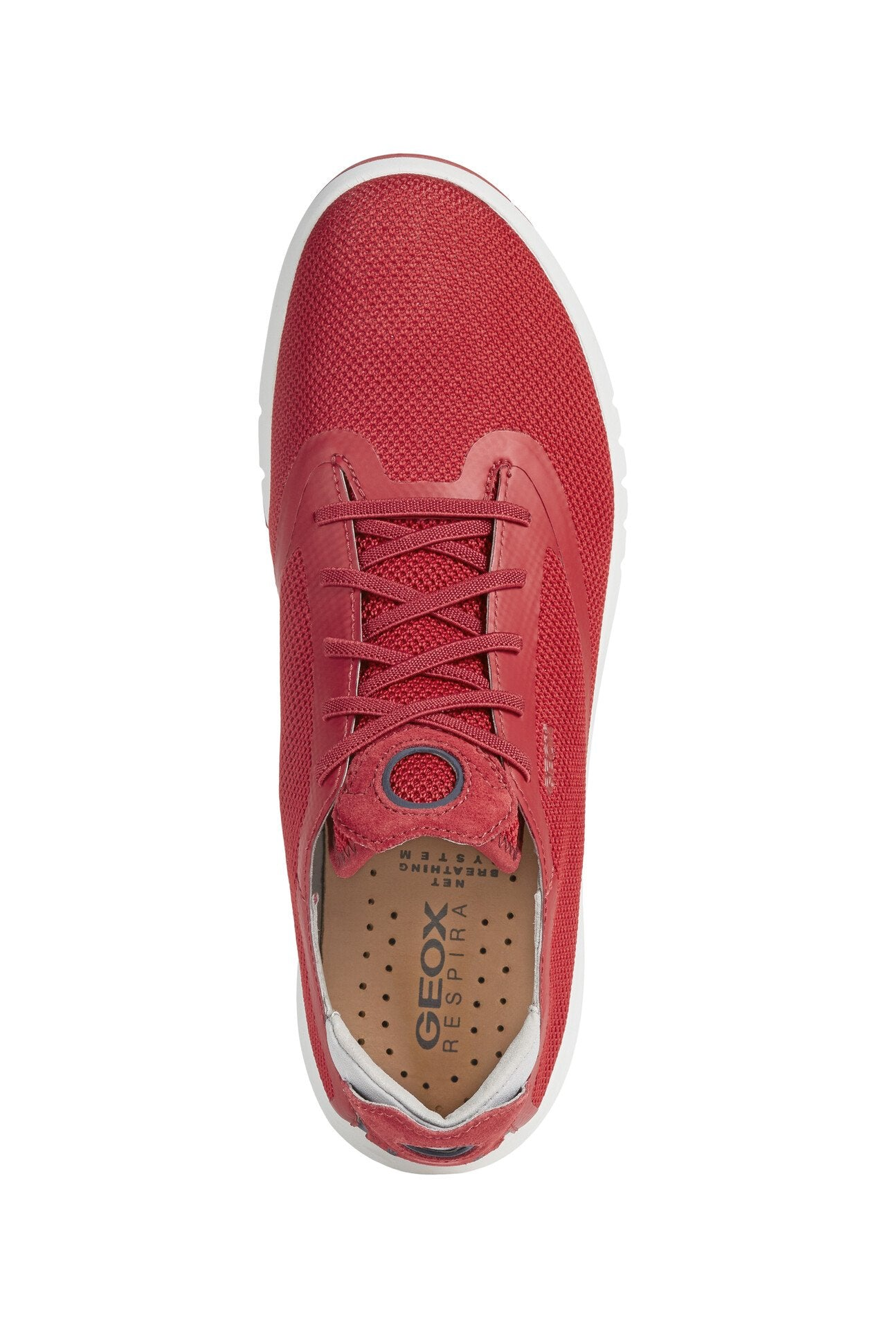 Geox Mens Red U Aerantis Trainers U027FD0006KC7000 | Vilbury London