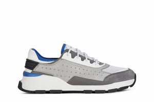 Geox Mens Grey White U Regale Trainers U029AA0856KC1303 | Vilbury London