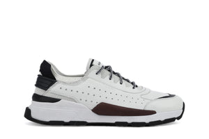 Geox Mens White U Regale Trainers U029AA0859BC1000 | Vilbury London