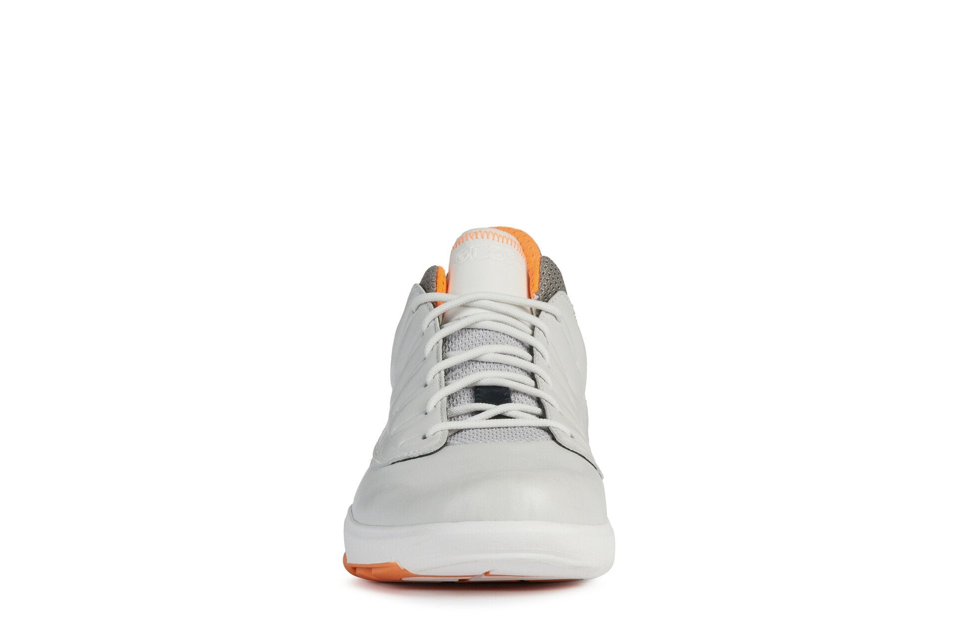 Geox Mens White Orange U Modual B Abx Trainers U948LA0856KC0422 | Vilbury London