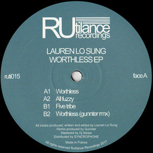 LAUREN LO SUNG - WORTHLESS EP - (RUTI015)