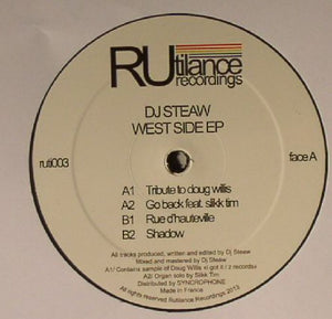 DJ STEAW - WEST SIDE EP - (RUTI003)