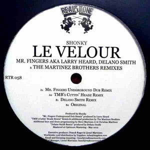 SHONKY - LE VELOUR (W/ MR FINGERS, DELANO SMITH, THE MARTINEZ BROTHERS REMIXES) - (RTR058)