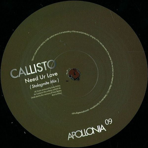 CALLISTO - NEED UR LOVE - (APO009)