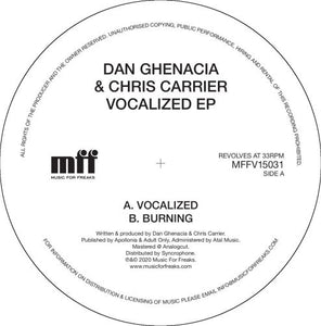DAN GHENACIA & CHRIS CARRIER - VOCALIZED EP - (MFF15031)