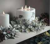 Luxury White & Grey Marble Wax LED Candle