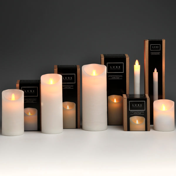 Luxury White /Ivory LED Wax Candles