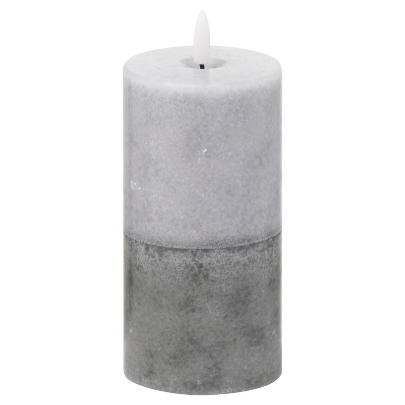Luxury Grey Ombre Wax LED Candle