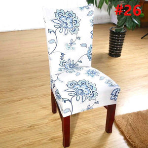 New Chair Cover Floral Home Hotel Dining Room Slipcover Wedding Party Decoration