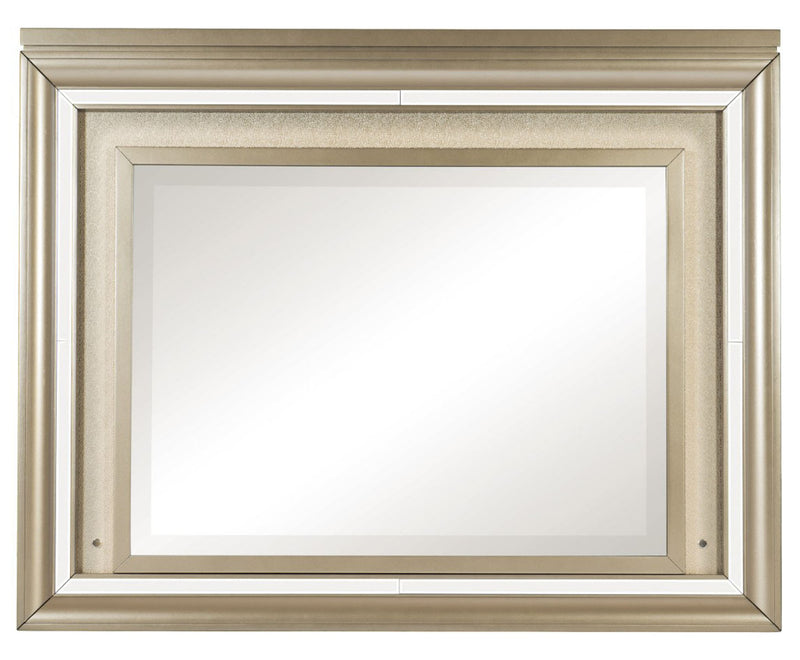 Homelegance Furniture Loudon Mirror with LED Lighting in Champagne Metallic 1515-6