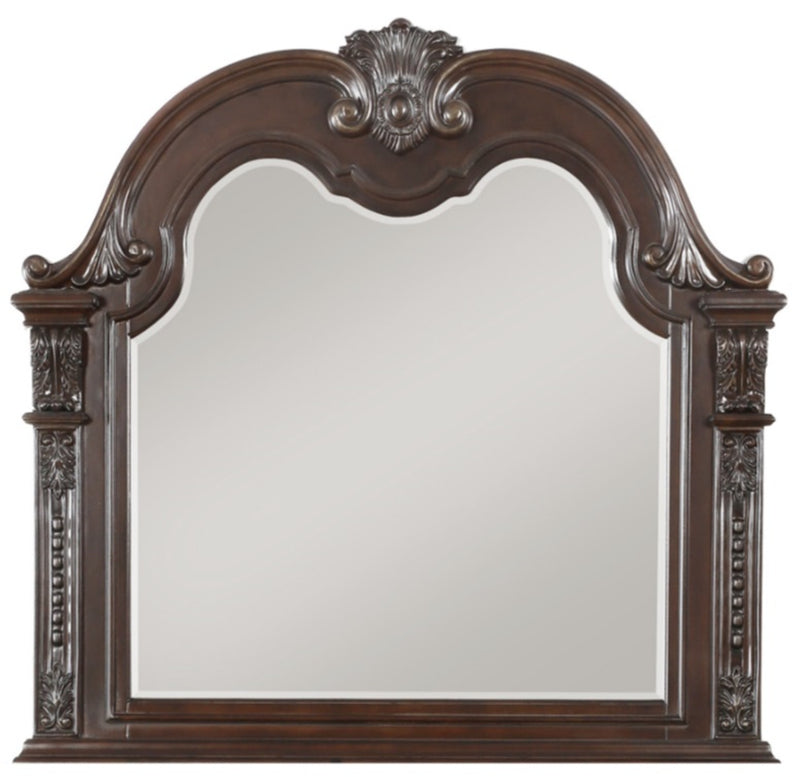 Homelegance Cavalier Mirror in Dark Cherry 1757-6