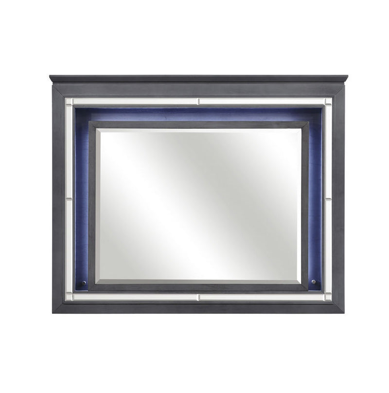 Homelegance Allura Mirror in Gray 1916GY-6