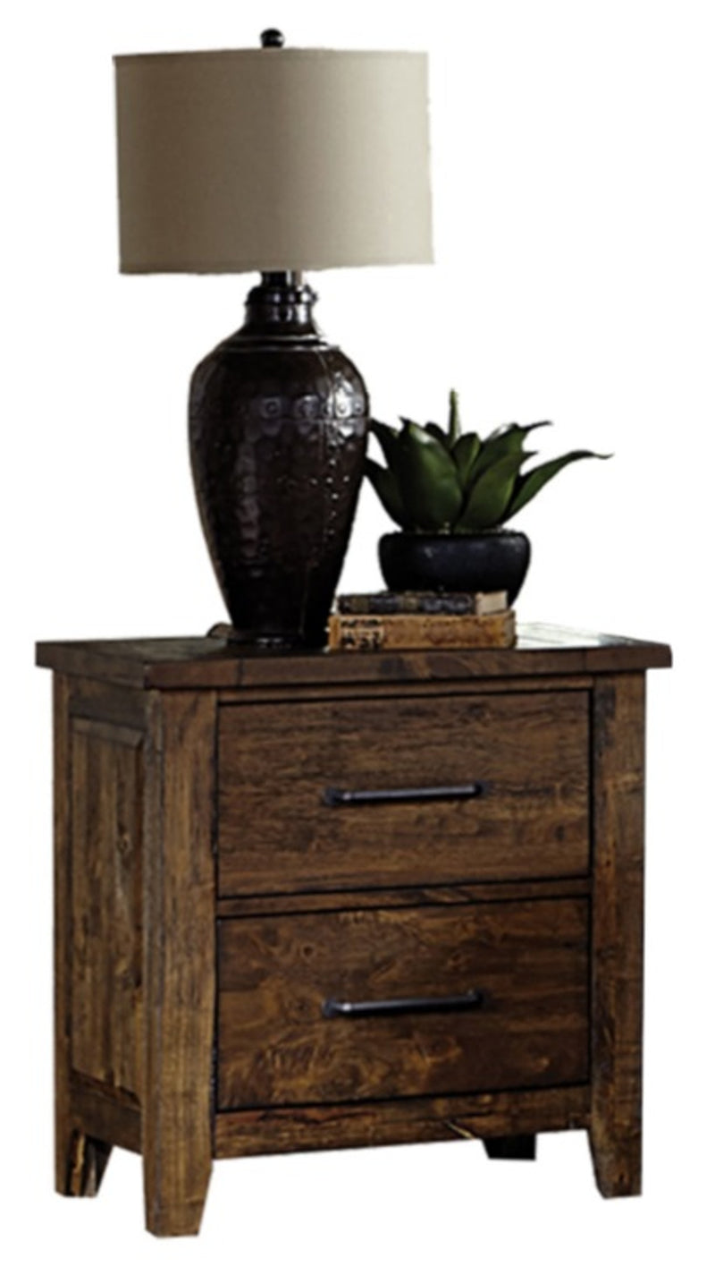 Homelegance Jerrick Nightstand in Burnished Brown 1957-4