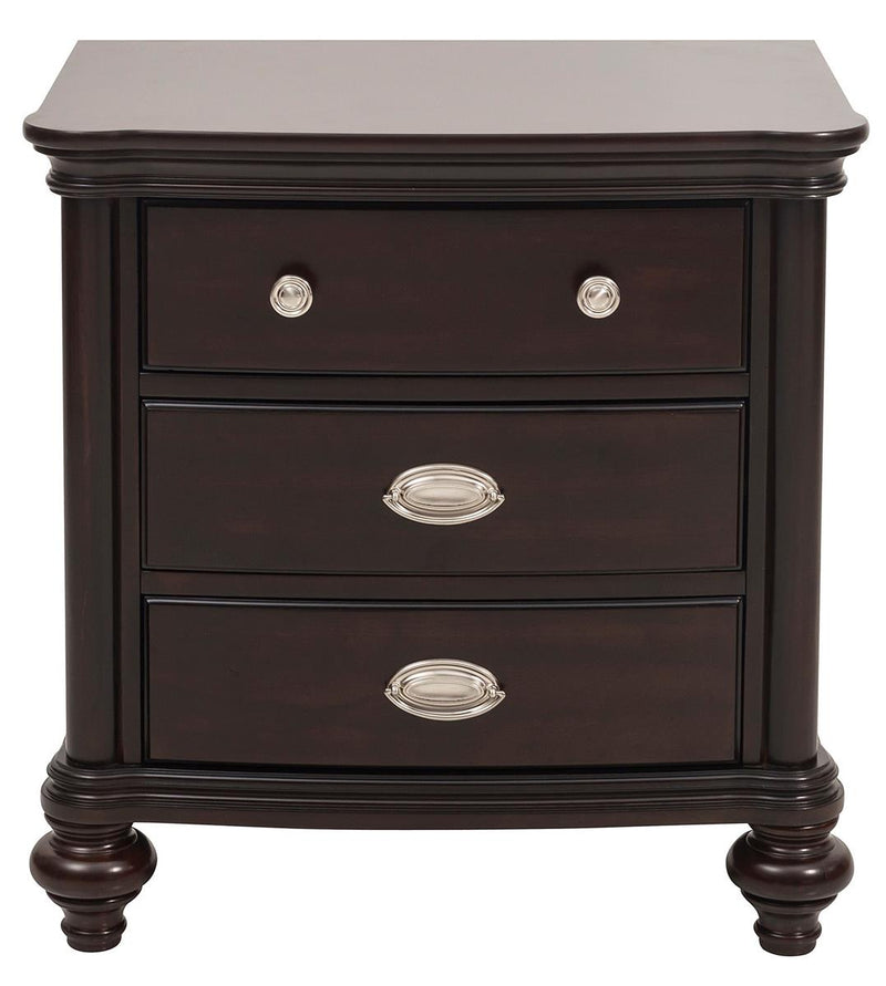 Homelegance Marston 3 Drawer Nightstand in Dark Cherry 2615DC-4 image