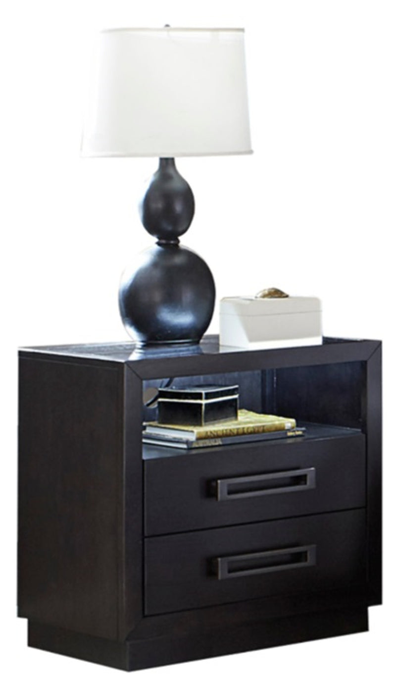 Homelegance Larchmont Nightstand in Charcoal 5424-4