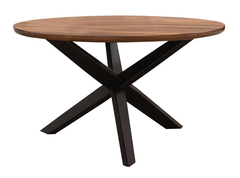 Homelegance Nelina Round Dining Table in Espresso & Natural 5597-53*