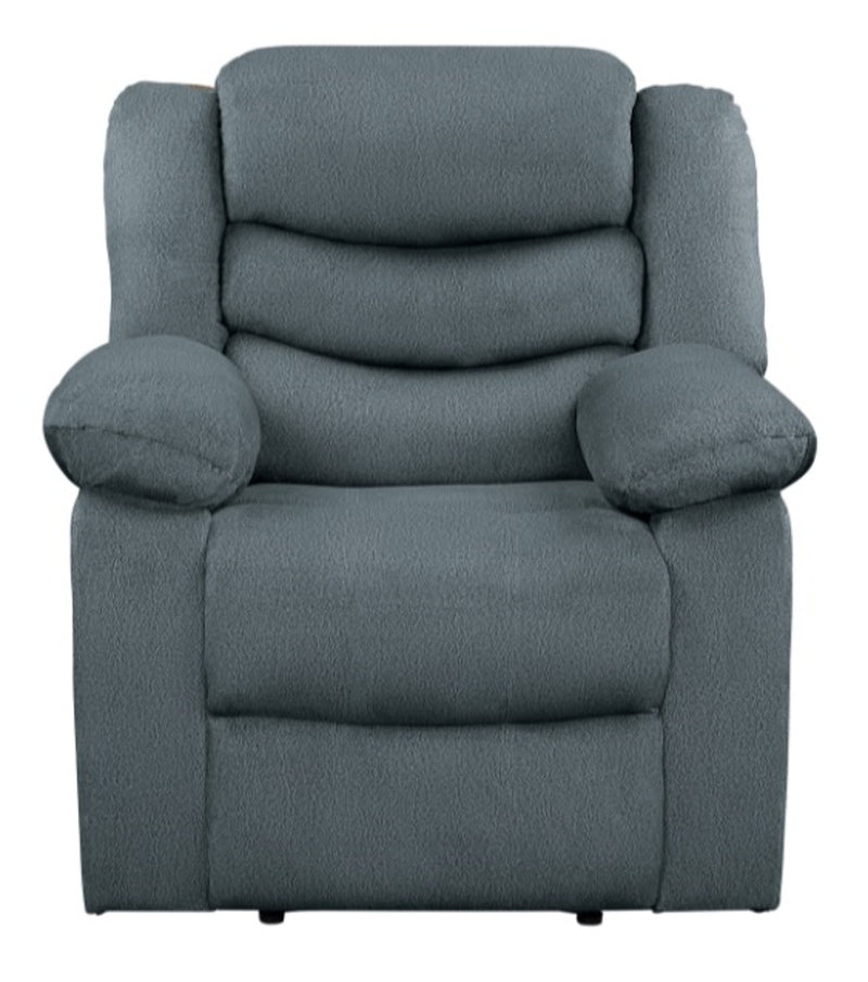 Homelegance Furniture Discus Double Reclining Chair in Gray 9526GY-1