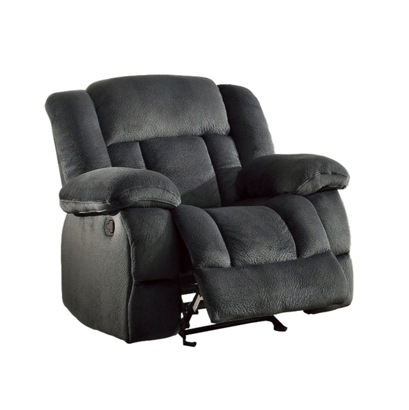 Homelegance Furniture Laurelton Glider Reclining Chair in Charcoal 9636CC-1