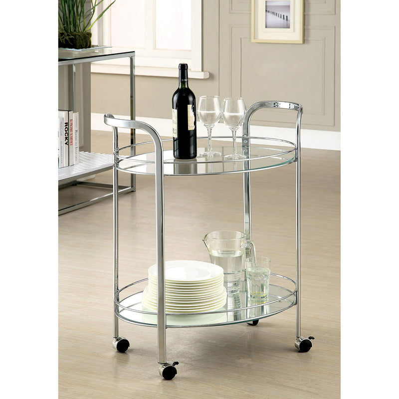 LOULE Chrome Serving Cart