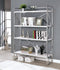 Gustav White/Chrome Bookcase