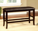 WOODSIDE II Dark Cherry/Espresso Counter Ht. Bench image