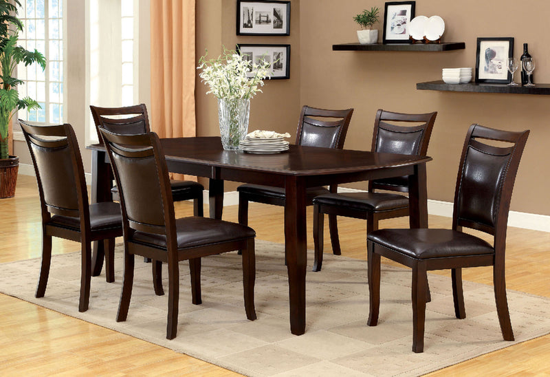 Woodside Dark Cherry/Espresso Dining Table