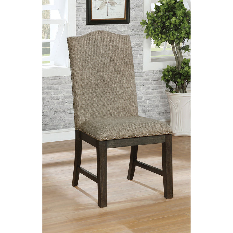 Faulk Espresso/Warm Gray Side Chair (2/CTN) image