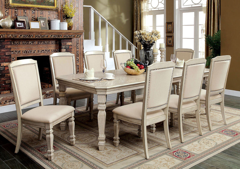 HOLCROFT Antique White/Ivory Dining Table