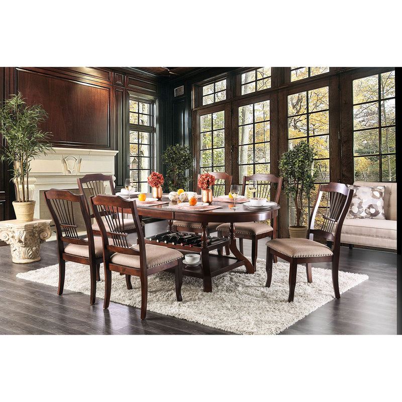 Jordyn Brown Cherry 7 Pc. Dining Table Set image