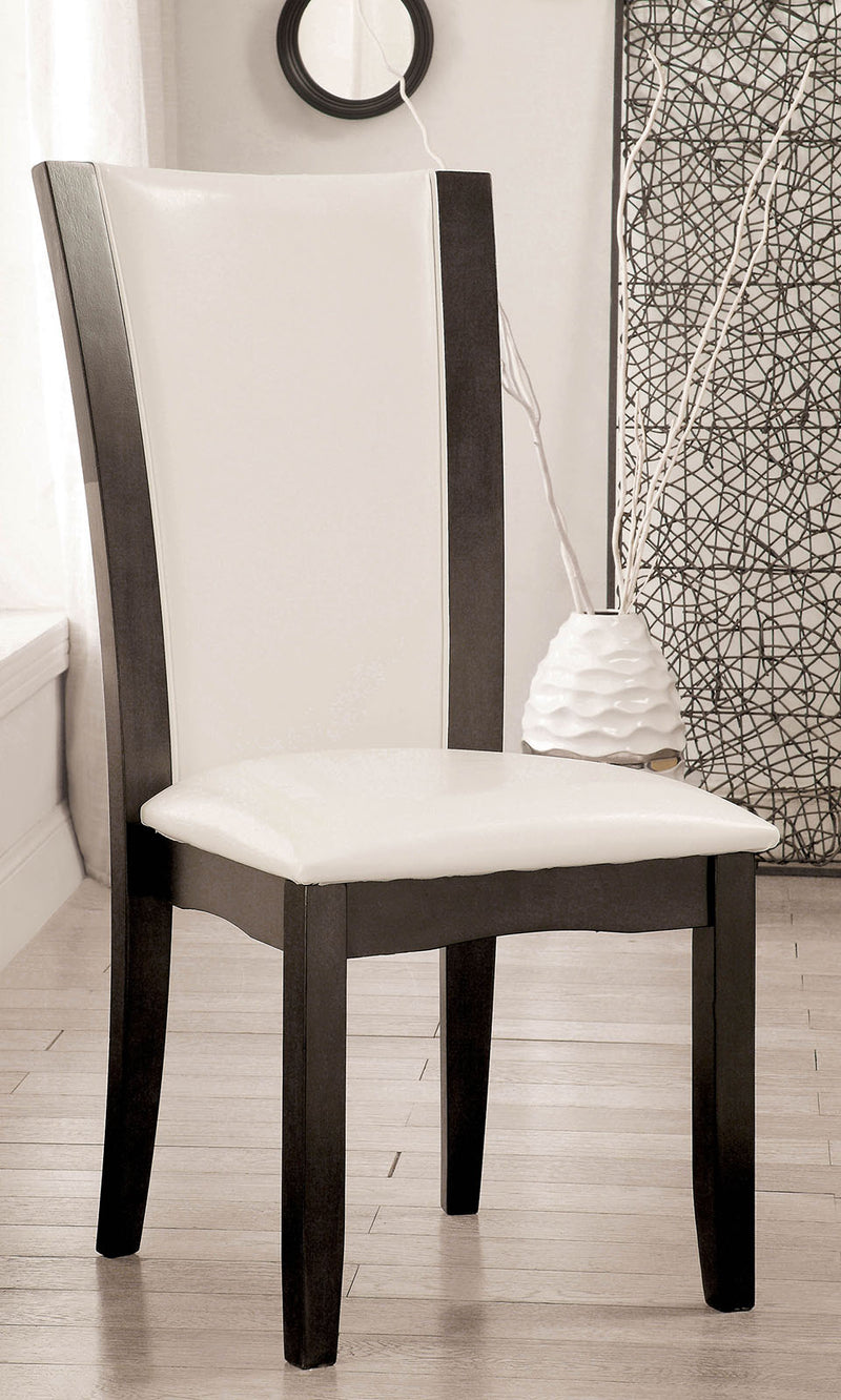 MANHATTAN I Gray/White Side Chair