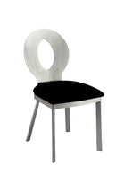 VALO Silver/Black Side Chair (2/CTN)