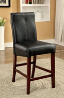 BONNEVILLE II Brown Cherry/Black Counter Ht. Chair (2/CTN) image