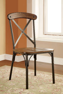 CROSBY Natural Elm/ Bronze Side Chair (2/CTN) image