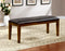 HILLSVIEW I Brown Cherry/Espresso Bench image