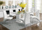 Eva White/Clear Dining Table