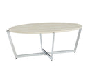 Madisyn White/Chrome Coffee Table