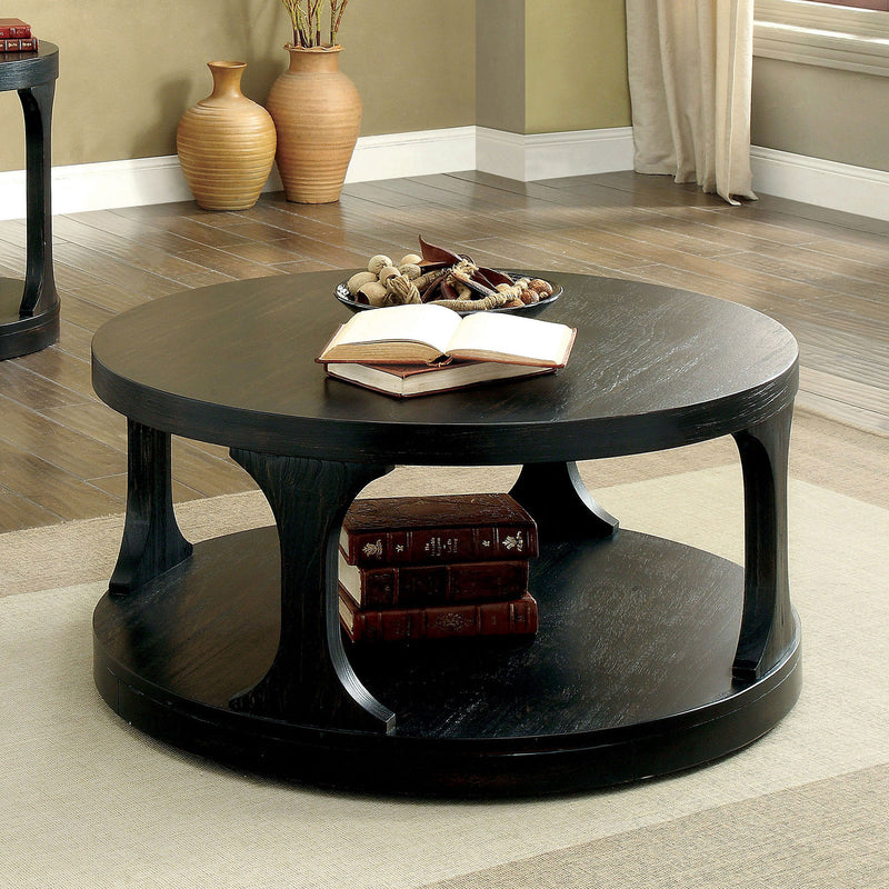 Carrie Antique Black Coffee Table image