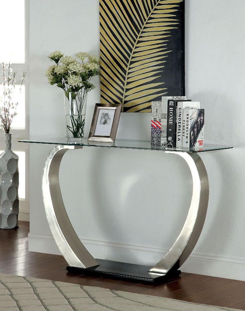 ROXO Satin Plated/Black Sofa Table image