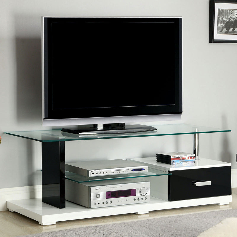 "Egaleo Black/White 55"" TV Console image"