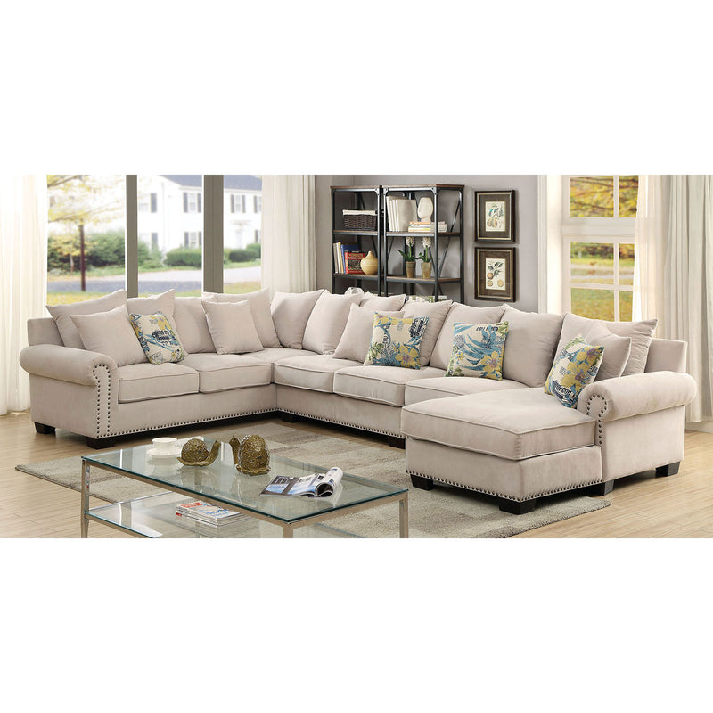 Skyler Beige Sectional + Chair