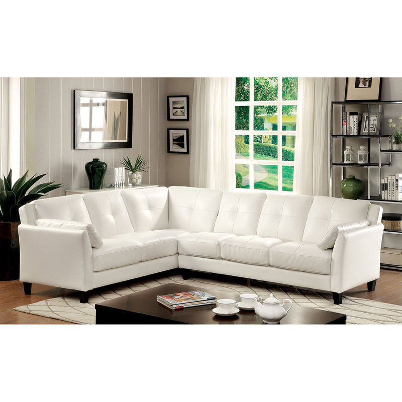 PEEVER White Sectional, White (K/D)