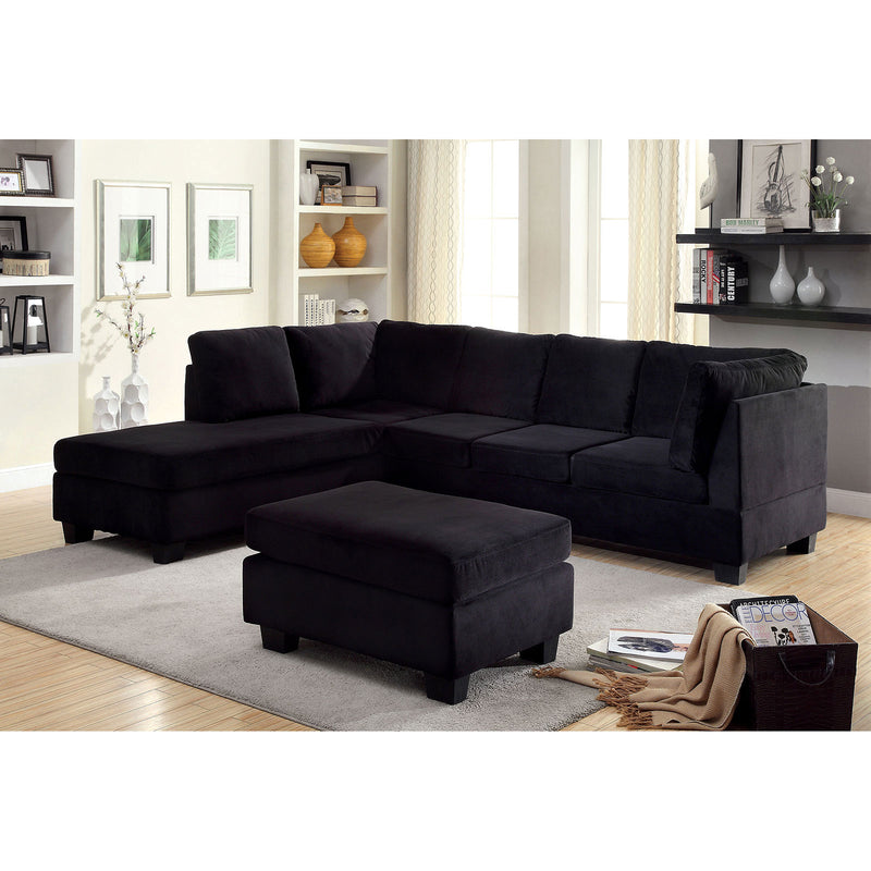LOMMA Black Sectional, Black